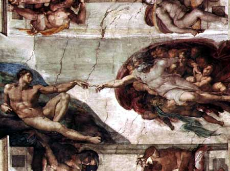 Creation adam michelangelo