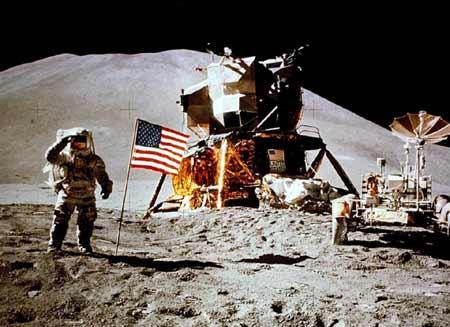 Apollo15 salut de la lune