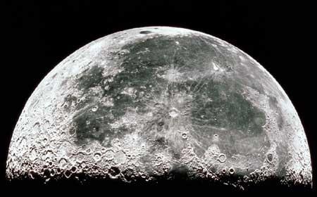 Crateres sur lune