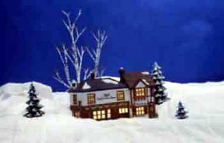 Maison dans neige