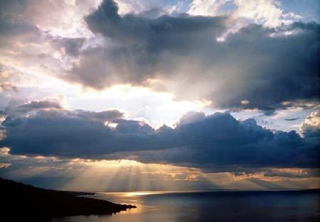 Soleil dans nuages