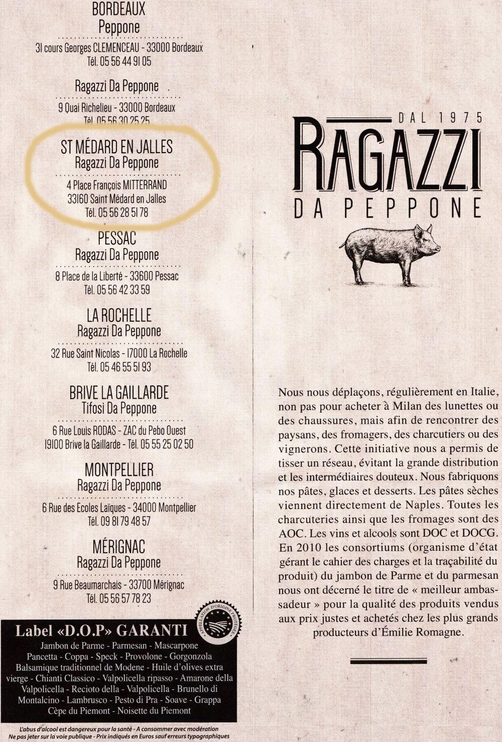 Pizza Peppone Bordeaux Carte.Ressource Restaurant Da Peppone De St Medard En Jalles Restaurant